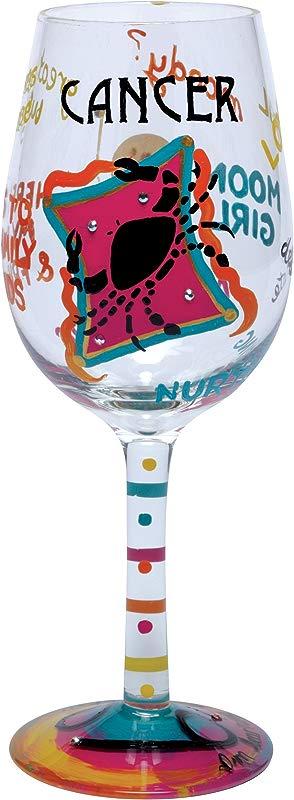 Lolita Love My Sign Cancer Wine Glass