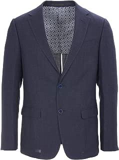 Z Zegna Mens Navy Drop 8 Slim Fit Textured Wool Triblend Blazer RTL$1230 NWT
