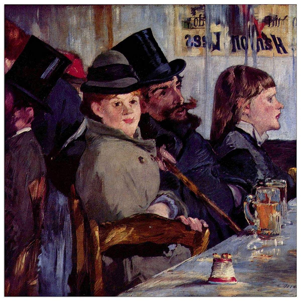 ArtPlaza TW92219 Manet ?douard-Cabaret in Reichshoffen Decorative Panel 43.5x43.5 Inch Multicolored