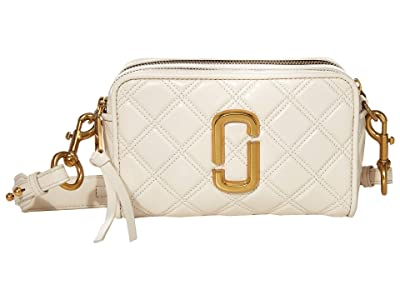 Marc Jacobs The Softshot 21 Crossbody (Ivory) Handbags