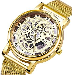Udaney Mens Black Business Casual Quartz Wristwatch Stainless Steel Strap