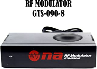 Universal RF Modulator RCA Audio Video to Coaxial Coax F-Type With S Video GTS-090-8
