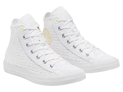 Converse Chuck Taylor All Star Crocheted Hi (White/Barely Volt/White) Women
