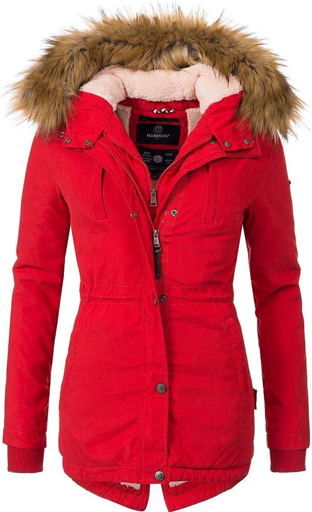 Marikoo ,cappotto invernale ,parka invernale da donna, con cappuccio Akira-01