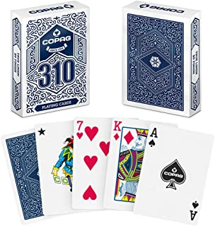 Copag 310 Playing Cards Blue, Poker Size/Regular Index, True Linen Plastic Coated Finish