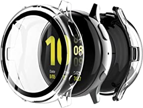 LK [2 Pack] Case for Samsung Galaxy Watch Active 2 40mm Built-in Tempered Glass Screen Protector, Hard PC Protector Cover ...