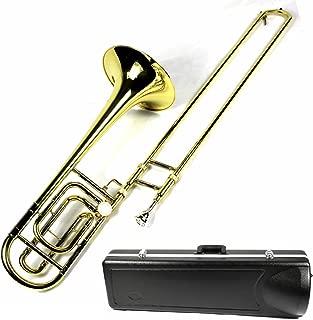 Brand New Bb/F Tenor Trombone w/ Case and Mouthpiece- Gold Lacquer Finish