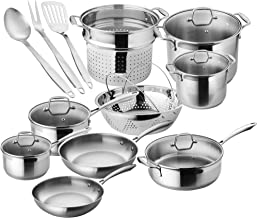 Chef's Star Premium Pots And Pans Set – 17 Piece Stainless Steel Induction..