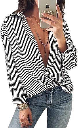 Blusa Larga De La Mujeres Camisa Las De Blusas Modernas ...