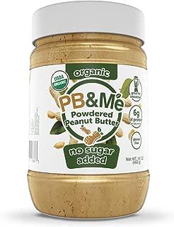 PB&Me USDA Organic Powdered Peanut Butter, Keto Snack, Gluten Free, Plant Protein, No Sugar Added, 16 Ounce