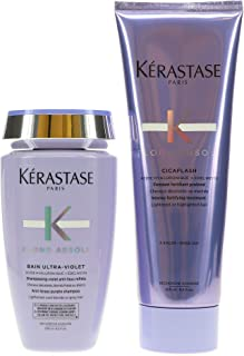 Kerastase Blond Absolu Bain Ultra-Violet & Cicaflash Conditioner 8.5 oz ea