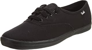 Keds Women's Champion Canvas Sneaker, Black/Black, 8.5