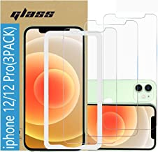 (3 Pack ) Amuoc Tempered Glass Film for Apple iPhone 12 Screen Protector and iPhone 12 pro Screen Protector, with (Easy In...
