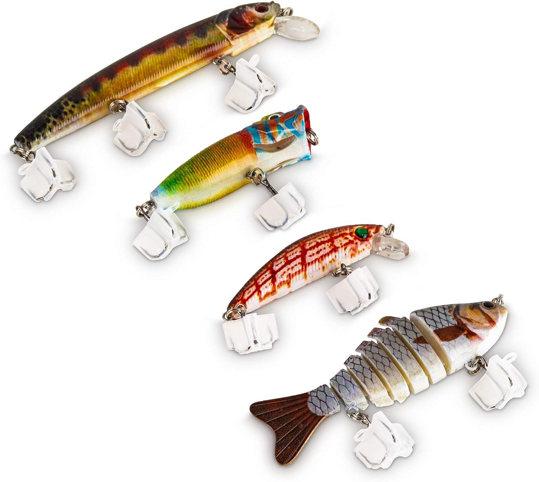 Fishing Lures Lifelike Popper Bait Swimbaits with Treble Hook Purple/&Blue