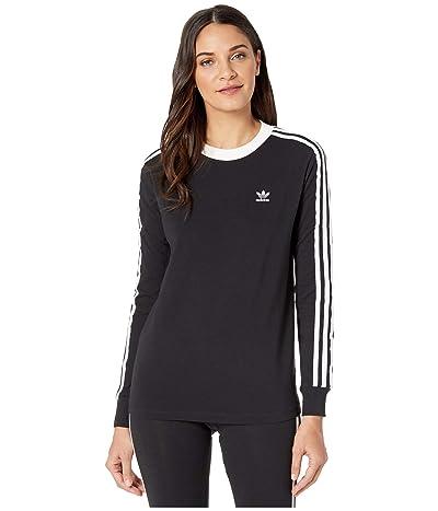 adidas Originals adiColor Classics 3-Stripes Long Sleeve Tee (Black/White) Women
