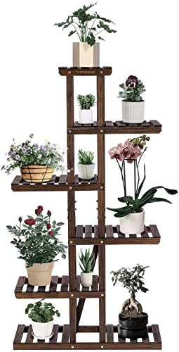 discount VIVOSUN Wood Plant Stand discount for Indoor Plants Outdoor Tiered Plant Shelf, Balcony Garden Shelf Display Holder for Living Room Office Lawn Patio(with a Pair of online sale VIVOSUN Glove) outlet online sale