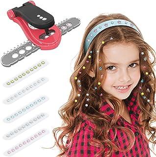 yeesport Hair Sparkle Toy Kit Creative Hair Jewel Refill Hair Glitter Kit Hair Gem with Glam Styling Tool Hair Sparkle Kit...