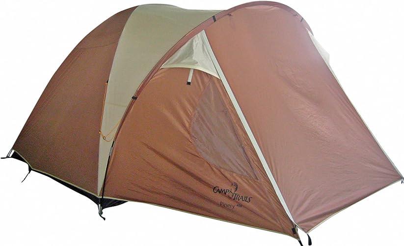 Camptrails Tente Pinery 400 pour 4 personnes Marron crème 275 x 416 cm