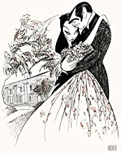 Al Hirschfeld's GONE WITH THE WIND Hand Signed Limited Edition Lithograph