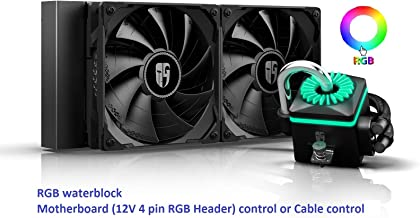 DEEPCOOL Captain 240X RGB AIO CPU Liquid Cooler, Anti-Leak Tech Inside, Stainless Steel U-Shape Pipe, Cable Controller and Motherboard with 12V 4-pin RGB Header Control, 3-Year Warranty