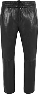 Carrie CH Hoxton Pantaloni Chino da Donna Casual Neri in Pelle di Agnello Elasticizzato vestibilità Rilassata 3160