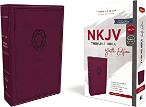 NKJV, Thinline Bible Youth Edition, Leathersoft, Purple, Red Letter Edition, Comfort Print: Holy Bible, New King James Version