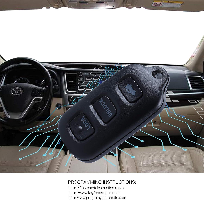 2 Pack Key Fob fits 1998-2004 Toyota Avalon Keyless Entry Smart Remote HYQ12BAN HYQ12BBX w//Panic
