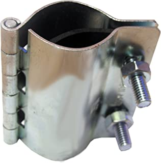 LASCO 13-1251 2 Bolt Metal Hinged Type Pipe Repair Clamp with Bolts, 1/2-Inch