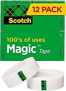 نوار سحر و جادو با نام تجاری Scotch ، برنامه های بیشمار ، پایان مات ، مهندسی شده برای استفاده در مطب و منزل ، عالی برای بسته بندی کردن هدایا ، 3/4 x 1000 اینچ ، جعبه ، 12 رول (810K12)