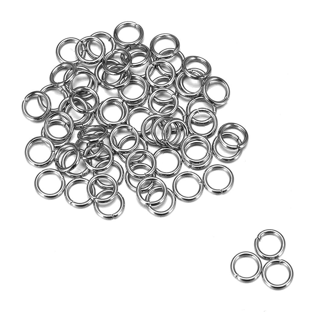 HOUSWEETY 500 Stainless Steel Open Jump Rings 5mm Dia. Findings