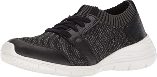 Hush Puppies femmes Cypress Knit Lace-Up noir blanc Textile 8.5 W (D)
