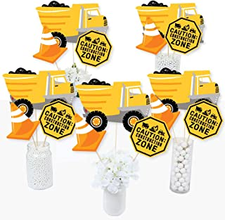 Big Dot of Happiness Dig It - Construction Party Zone - Baby Shower or Birthday Party Centerpiece Sticks - Table Toppers -...