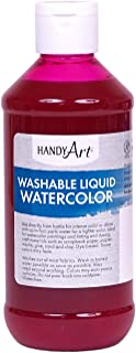 Handy Art Washable Liquid Watercolor 8 ounce, Magenta