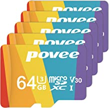 5 Pack of 64GB MicroSD Card with Adapter,U3 A1 MicroSDXC Card 667X High Speed Up to 100MB/s UHS-I Micro SD 64 GB UHS-1 Memory Card for Android Smartphone Nintendo Galaxy Fire and Gopro