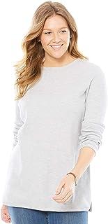 Women's Plus Size Thermal Sweatshirt Heather Grey3X