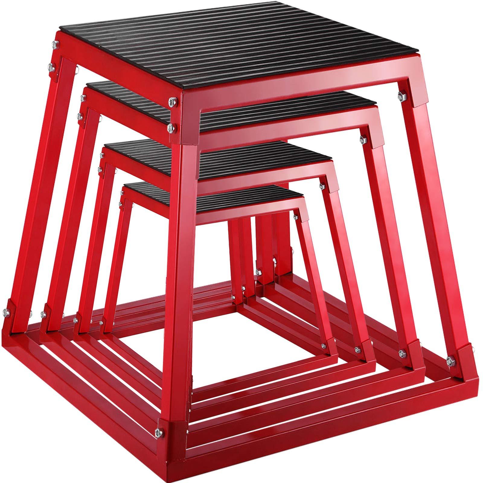 Frantools 4Pics Plyometric Box Pliométrico Caja Pliométrico Plataforma Caja de Salto Caja Pliometrica Salto Cajón Pliometrico Cajones de Salto Juego de 4 de 12 /18 /24 /30