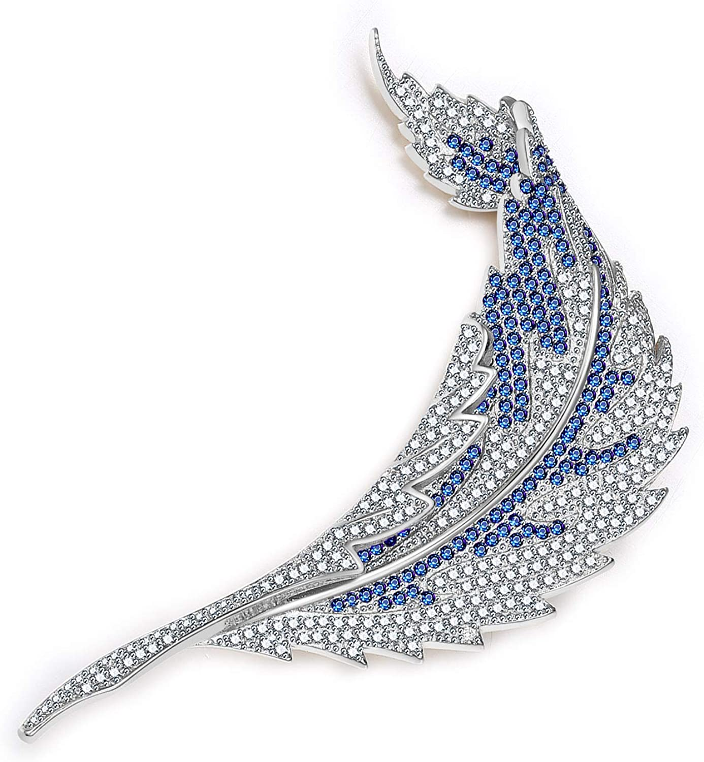 Timoey Crystal Zircon Brooch Pins for Women and Girl Party Flower Tree Leaf Brooches