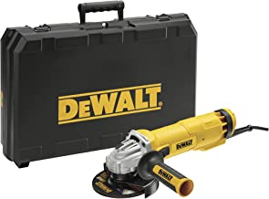 Dewalt DWE4217KD-QS DWE4217KD haakse slijper met stofdeeltjesbescherming, 1200 W, 230 V, geel