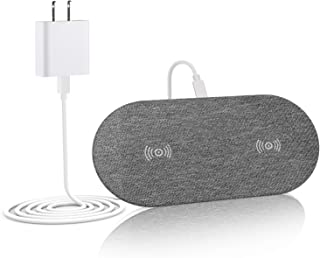 Lecone Dual Wireless Charger, Double 10W Qi Wireless Charging Pad Compatible with iPhone X, XS, XS Max, XR, iPhone 8/8 Plus, Samsung Galaxy S10/S10+/Note 9/S9/S9 Plus/Note 8 (AC Adapter Include)