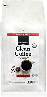 Natural Force Organic, Mold Free Clean Coffee – Low Acid, Whole Bean, Rainforest Alliance Certified Medium Roast - Great Taste + Aroma - Tested for Toxins and Powered by Purity - 5 Pound Family Size