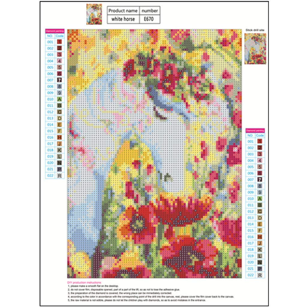WOBANG DIY 5D - Kit de Pintura de Diamantes, para Pintar por números, para Adultos, diseño de Mariposas y Flores, Bordado de Diamantes, Punto de Cruz con estrás: Amazon.es: Juguetes y juegos