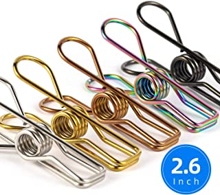 Chip Clips Bag Clips Food Clips - 28 Pack Assorted Colors Utility Clips Heavy Duty Stainless Steel Wire Chip Bag Clips for Kitchen Bread Open Bags Snack Bags Food Storage Bags (Mixed)