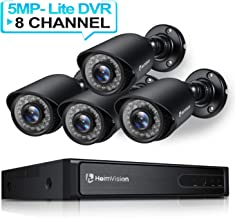 HeimVision HM245 8CH 1080P Security Camera System, 5MP-Lite HD-TVI DVR 4Pcs 1920TVL..
