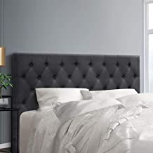 King Size Headboard, Fabric Upholsterd Bed Head, Charcoal
