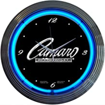 Neonetics Cars and Motorcycles Camaro Neon Wall Clock, 15-Inch