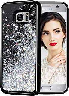Galaxy S7 Case, Caka Galaxy S7 Glitter Case Starry Night Series Luxury Fashion Bling Flowing Liquid Floating Sparkle Glitter Girly Soft TPU Case for Samsung Galaxy S7 (Silver)