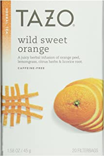 Tazo Wild Sweet Orange Herbal Tea, 20 Count Box 1.58oz (Pack of 3)