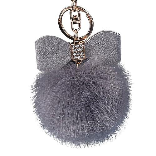 10CM Nette Schlüsselanhänger Keychain Anhänger Handtasche Geldbörse schlüsselbund Pompons hängen Plüsch Lonshell