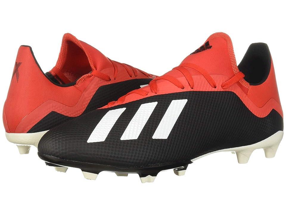 adidas X 18.3 FG (Core Black/Off-White/Grey Four F17) Men's Soccer Shoes