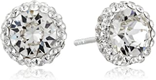 Amazon Collection 标准纯银施华洛世奇水晶光环耳钉